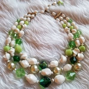 1940s Pre-WWII Germany Vintage Bead Necklace